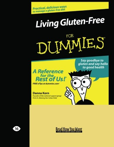 9781442978256: Living Gluten-Free for Dummies (Volume 2 of 2) (EasyRead Large Edition)