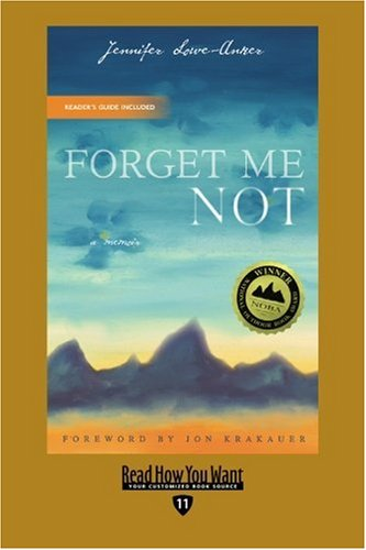 9781442993839: Forget Me Not (EasyRead Edition): A Memoir