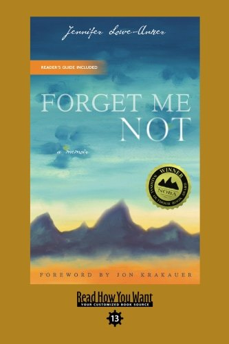 9781442993853: Forget Me Not (EasyRead Comfort Edition): A Memoir