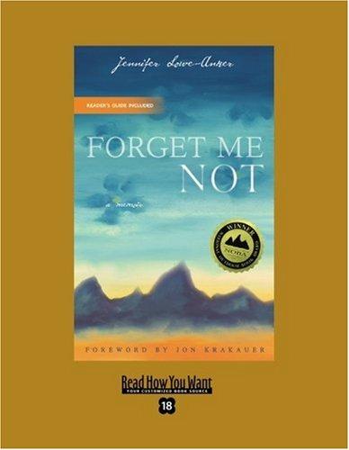 9781442993891: Forget Me Not (EasyRead Super Large 18pt Edition): A Memoir