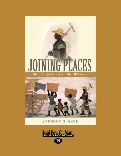 9781442997547: Joining Places: Slave Neighborhoods in the Old South