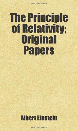 9781443254786: The Principle of Relativity; Original Papers: Includes free bonus books.