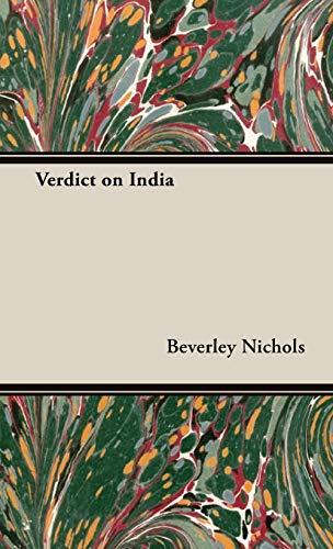 9781443720830: Verdict on India