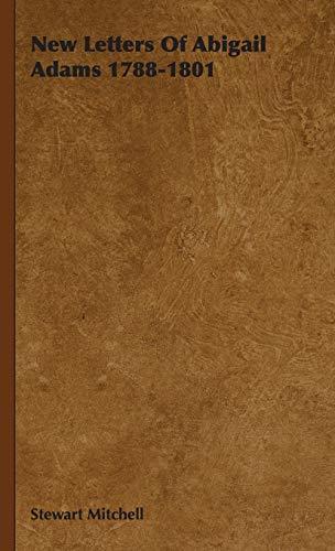 9781443726306: New Letters Of Abigail Adams 1788-1801