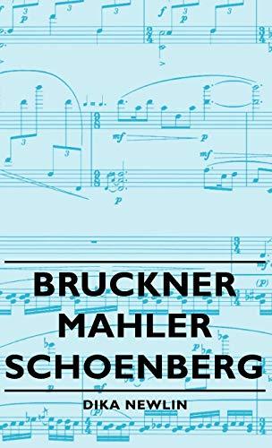 9781443728713: Bruckner - Mahler - Schoenberg