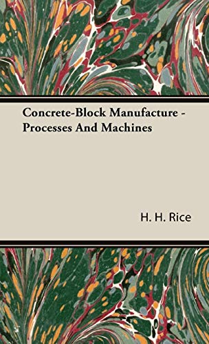9781443732253: Concrete-Block Manufacture - Processes And Machines
