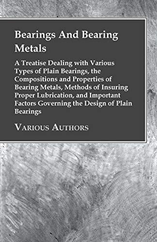 9781443761963: Bearings And Bearing Metals