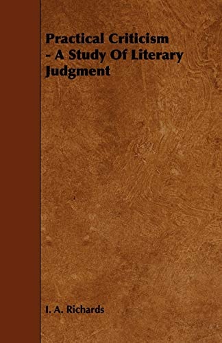 9781443781657: Practical Criticism - A Study Of Literary Judgment