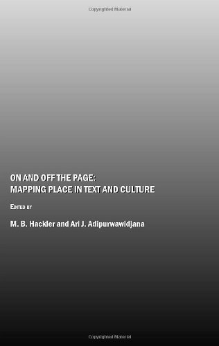 On and Off the Page: Mapping Place in Text and Culture: M.B. Hackler