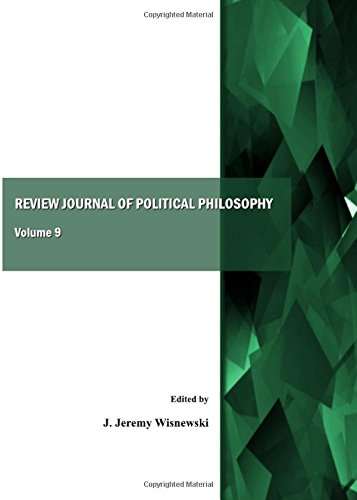 9781443839952: Review Journal of Political Philosophy, Volume 9