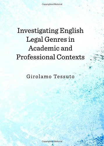 9781443842051: Investigating English Legal Genres in Academic and Professional Contexts