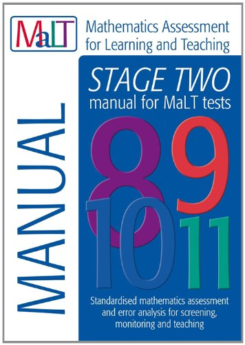 9781444102567: Malt Stage Two (Tests 8-11) Manual (Mathematics Assessment for Learning and Teaching) (Mathematics Assessment for Learning & Teaching)
