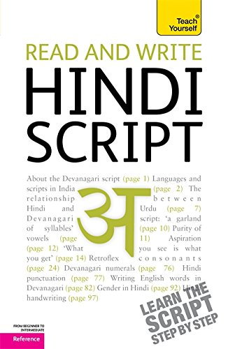9781444103915: Read and write Hindi script (Teach Yourself)