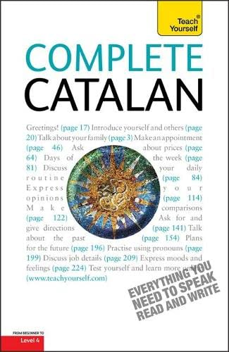 9781444105643: Complete Catalan Beginner to Intermediate Course: Learn to read, write, speak and understand a new language with Teach Yourself (Teach Yourself Complete)