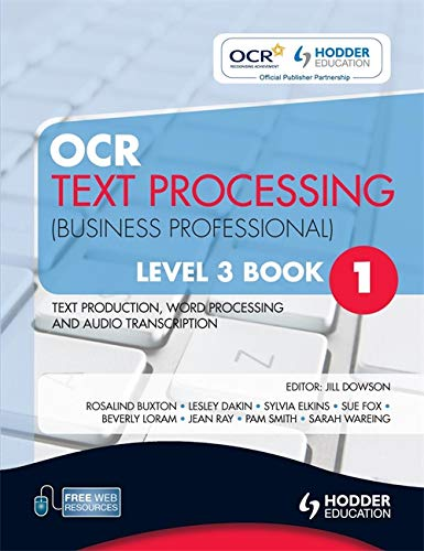 OCR Text Processing (Business Professional): Level 3,: Downson, Jill, Loram,
