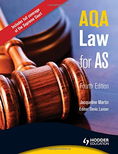 9781444110494: AQA Law for AS, 4th Edition