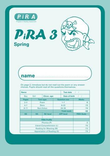 9781444111088: Progress in Reading Assessment Test 3, Spring PK10 (PIRA)