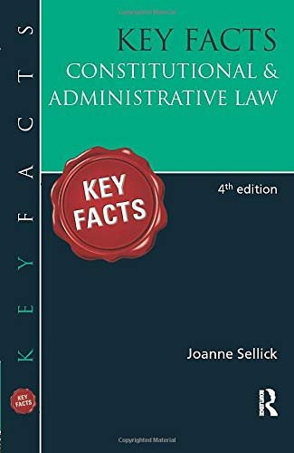9781444122398: KEY FACTS: Pack 1: Key Facts: Constitutional & Administrative Law