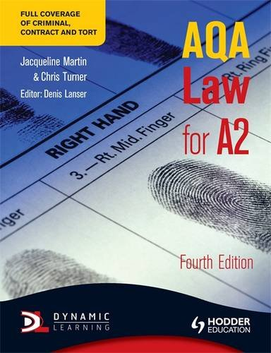 9781444122800: Aqa Law for A2. Jacqueline Martin, Chris Turner, Denis Lanser