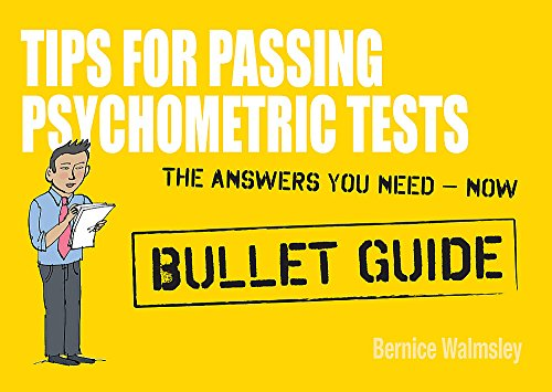 9781444135008: Tips For Passing Psychometric Tests: Bullet Guides