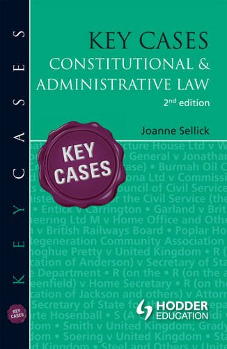 9781444135275: Key Cases: Constitutional and Administrative Law (Hodder Education Publication)