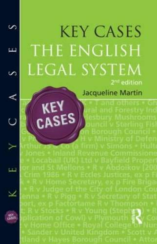 Key Cases: the English Legal System: Martin, Jacqueline