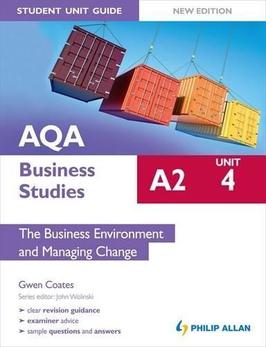9781444148091: Aqa A2 Business Studies. Student Unit Guide