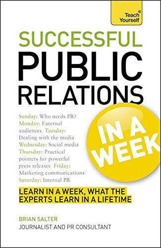 9781444159554: Successtul Public Relations in a Week. (Teach Yourself)