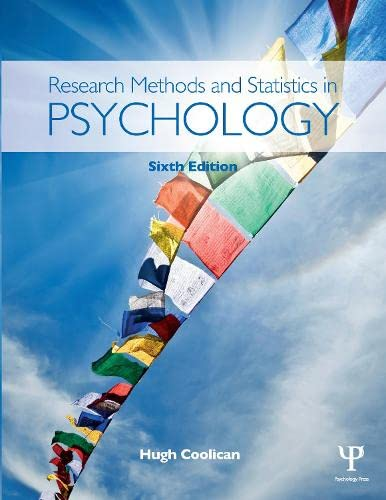 9781444170115: Research Methods and Statistics in Psychology, Sixth Edition