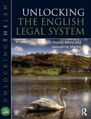 9781444174236: Unlocking the English Legal System (Unlocking the Law)