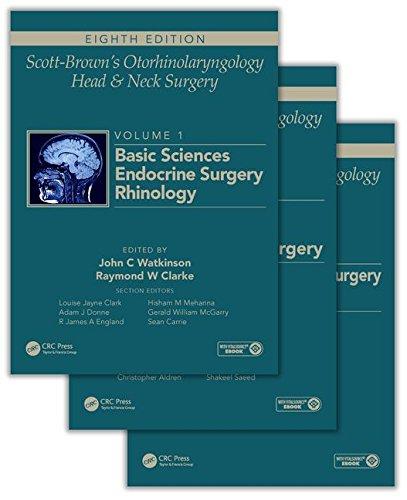 9781444175899: Scott-Brown's Otorhinolaryngology and Head and Neck Surgery, Eighth Edition