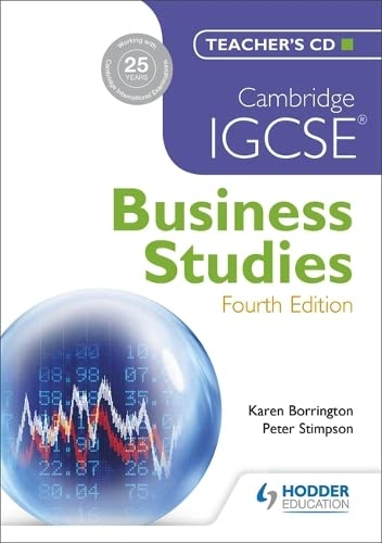 9781444176520: Cambridge IGCSE Business Studies 4th edition Teacher's CD