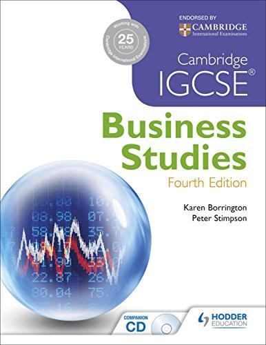 Cambridge IGCSE Business Studies (Paperback): Karen Borrington, Peter Stimpson