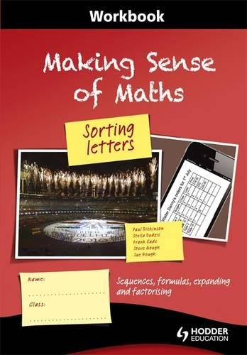 9781444180084: Making Sense of Maths: Sorting Letters