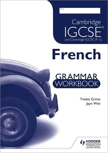 Cambridge IGCSE & International Certificate French Foreign: Yvette Grime, Jayn