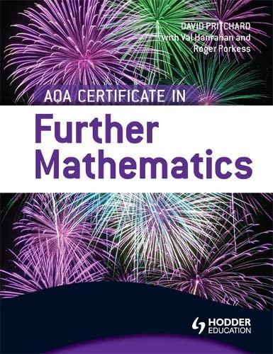 9781444181128: AQA Certificate in Further Mathematics