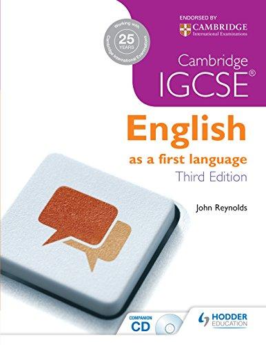 9781444191660: Cambridge IGCSE English First Language 3ed + CD