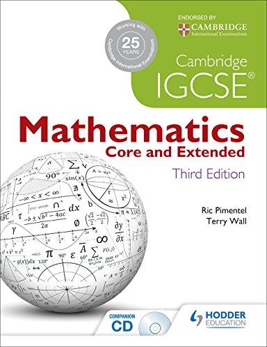 9781444191707: Cambridge IGCSE Mathematics Core and Extended 3ed + CD