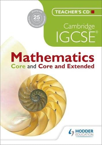 9781444191745: Cambridge IGCSE Mathematics Core and Core and Extended Teachers CD