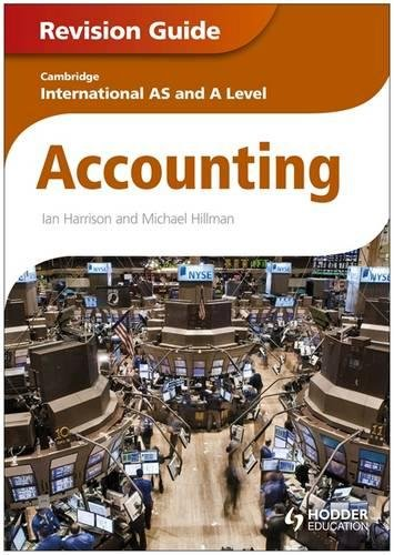 9781444192001: Cambridge International AS and A Level Accounting Revision Guide
