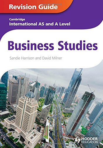 9781444192032: Business Studies: Cambridge International As & a Level: Revision Guide
