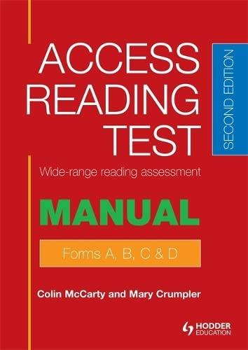 ACCESS READING TEST SPECIMEN SET 2 EDITI: MCCARTY, COLIN