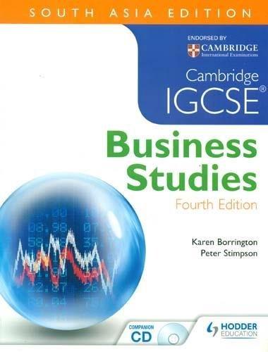Cambridge IGCSE Business Studies (Fourth Edition): Karen Borrington & Peter Stimpson