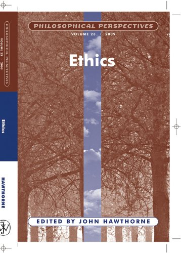 Ethics (Philosophical Perspectives 23, 2009): Hawthorne, John (ed.)