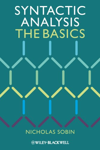 9781444335071: Syntactic Analysis: The Basics