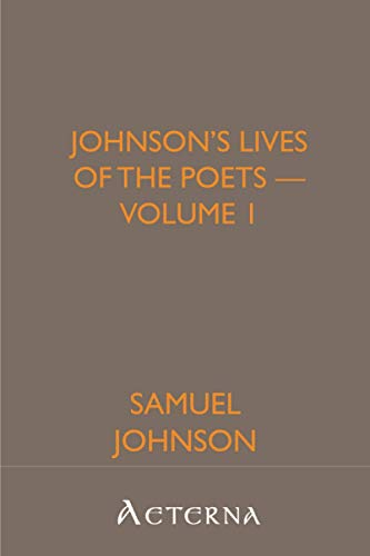 9781444422030: Johnson's Lives of the Poets - Volume 1