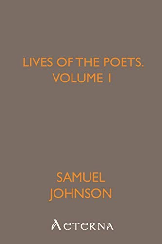 9781444448993: Lives of the Poets, Volume 1