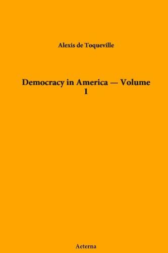 9781444468120: Democracy in America — Volume 1