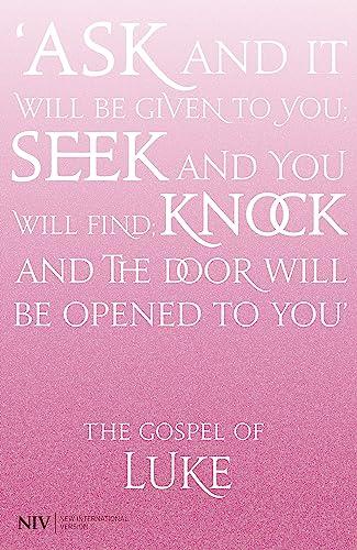 NIV Gospel of Luke (Paperback): New International Version