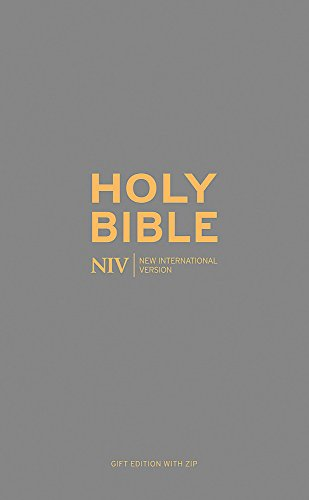 NIV Pocket Charcoal Soft-tone Bible with Zip: New International Version